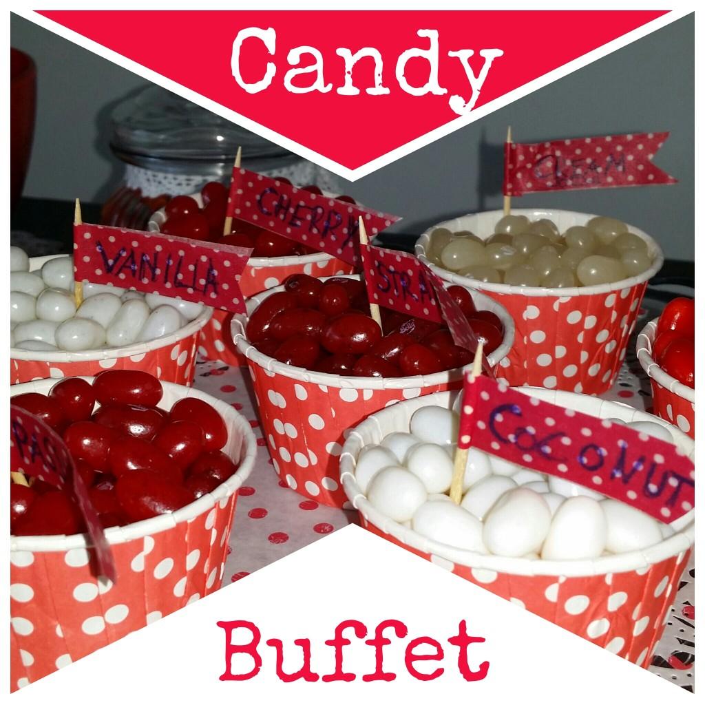 Candy Buffet rot weiß