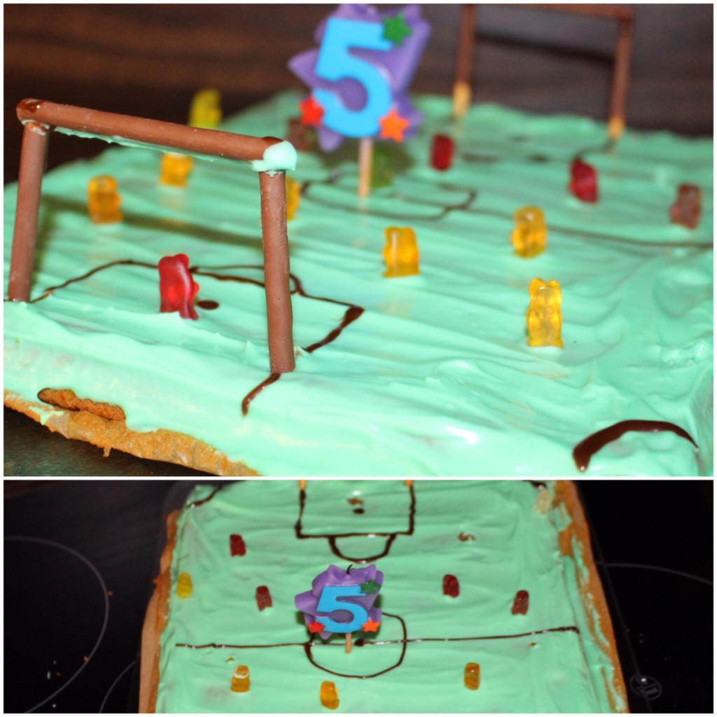 Fußballfeld Kuchen