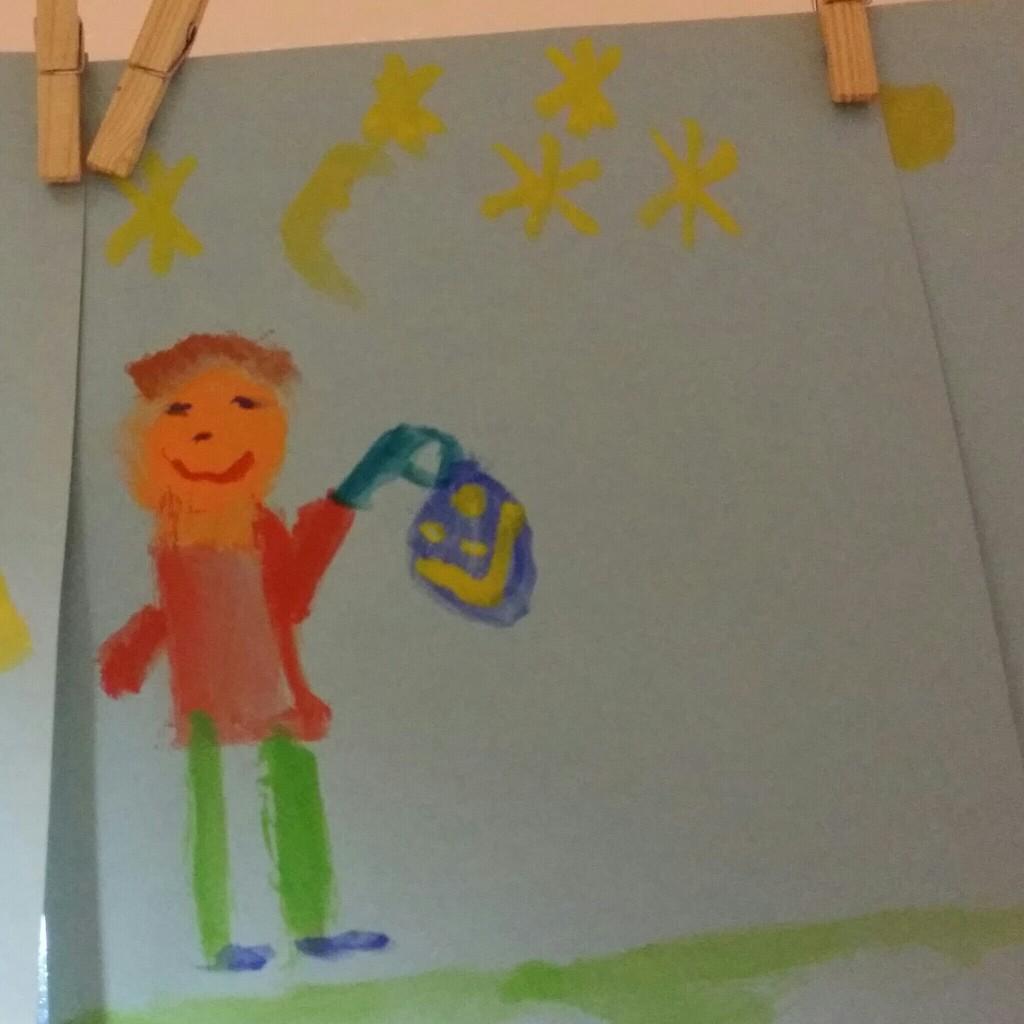 Kinderzeichnung Laterne