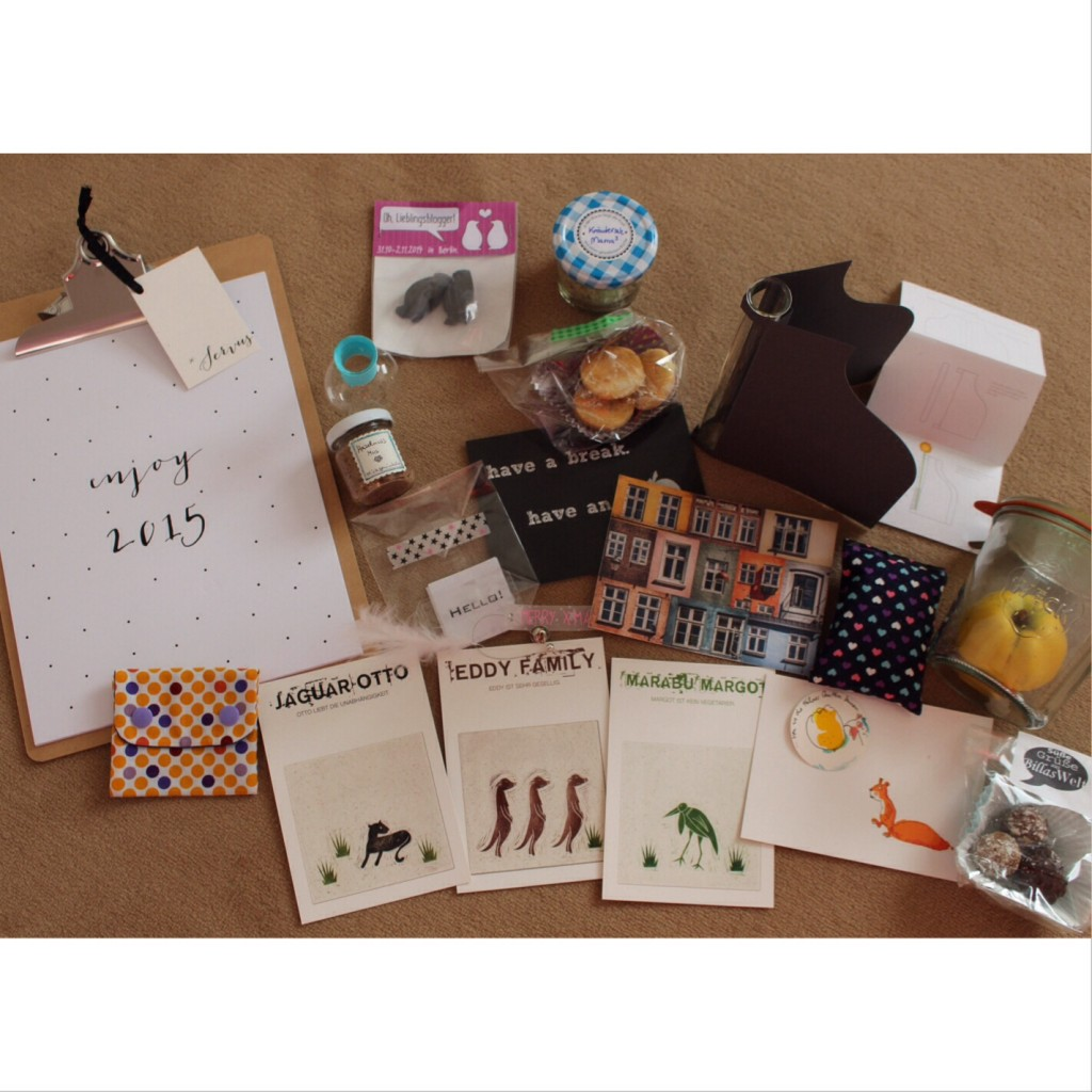 ausgepackte blogger geschenke