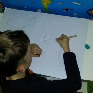 Weltkarte zeichnen