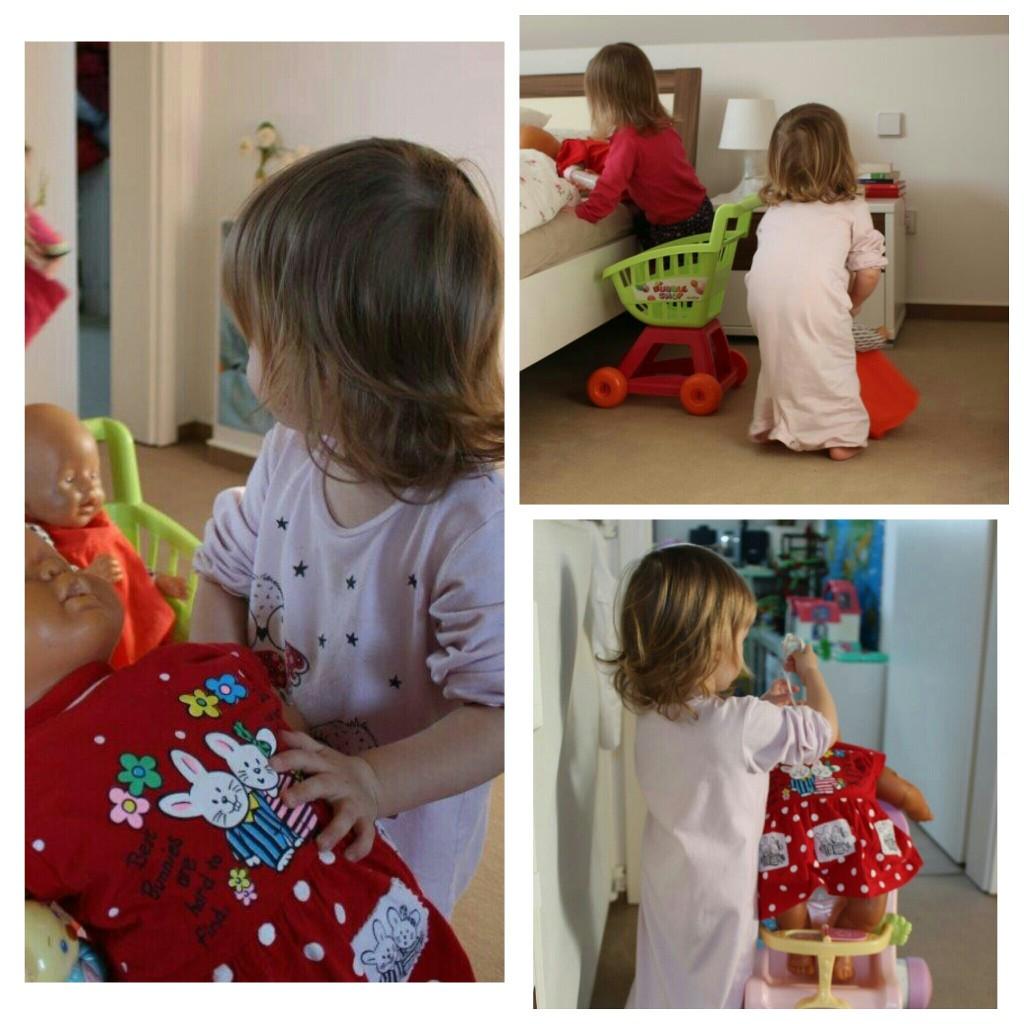 Spielen mit Puppen