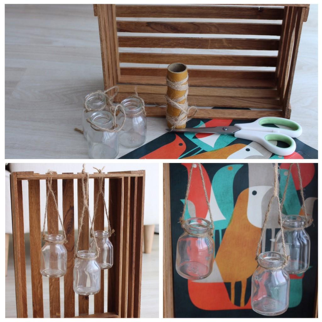 Holzkiste Rahmen Vase