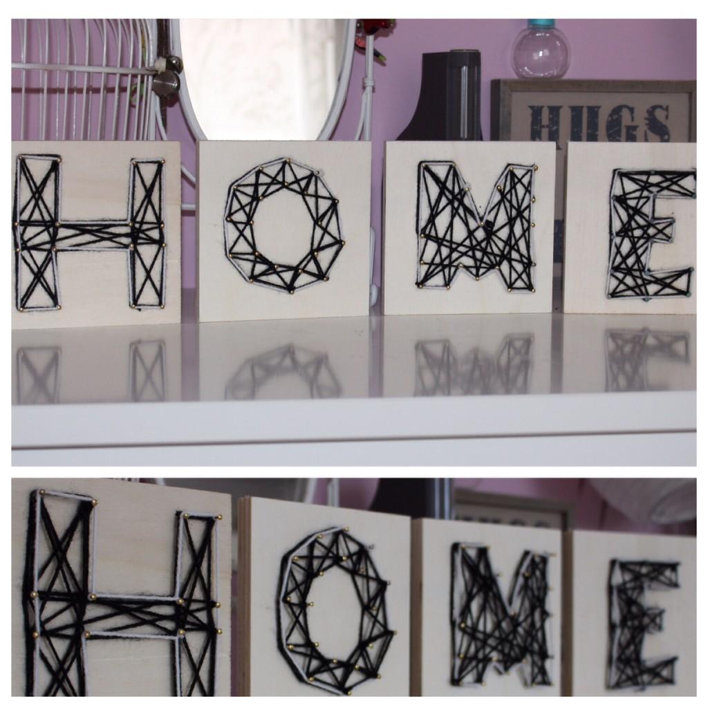 Buchstaben DIY Wolle Holz