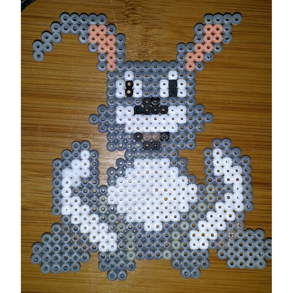 Hase bügelperlen pearler bunny