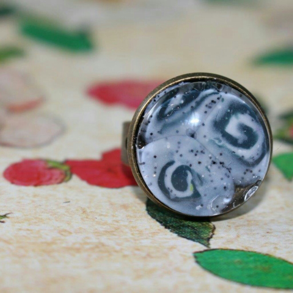 Ring selbstgemacht DIY glas Kupfer