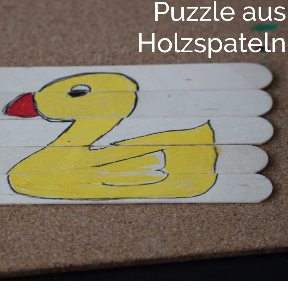 Holzspatel Puzzle Mundspatel basteln