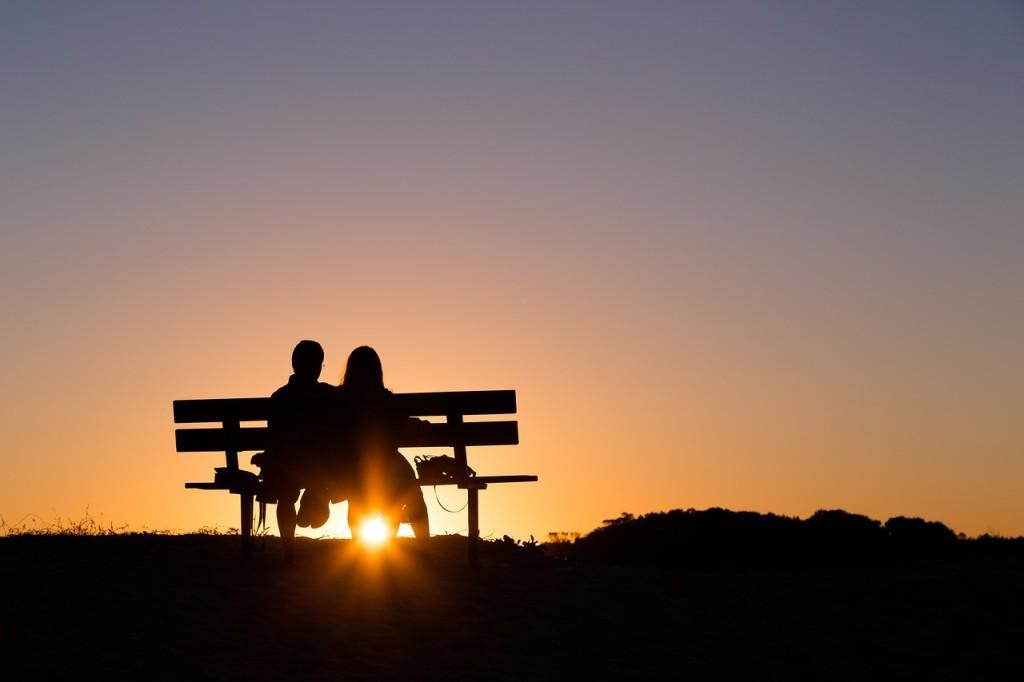 Sonnenuntergang Paar