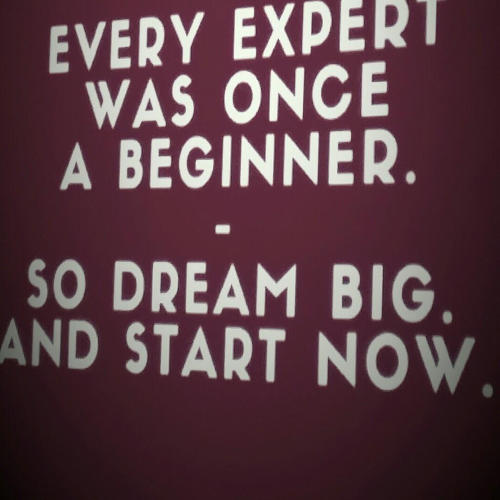 Every expert was noch a beginnen