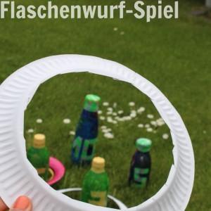 Wurfspiel aus Flaschen selbstgemacht