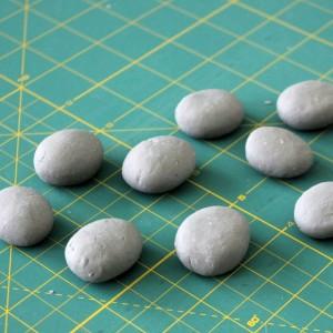 STeine aus luftrocknender Knetmasse Steinoptik