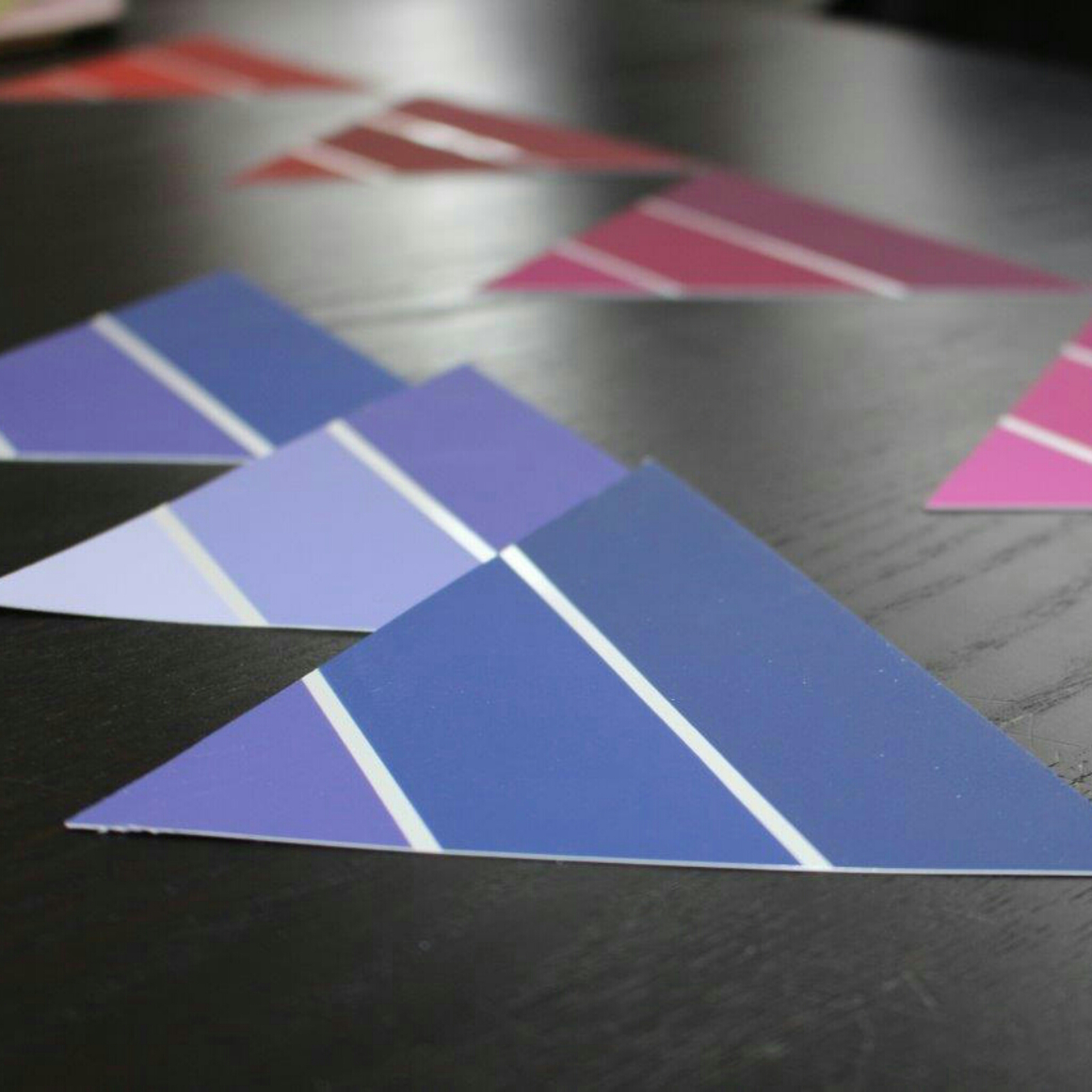 Wimpelkette Girlande Farbtonkarten