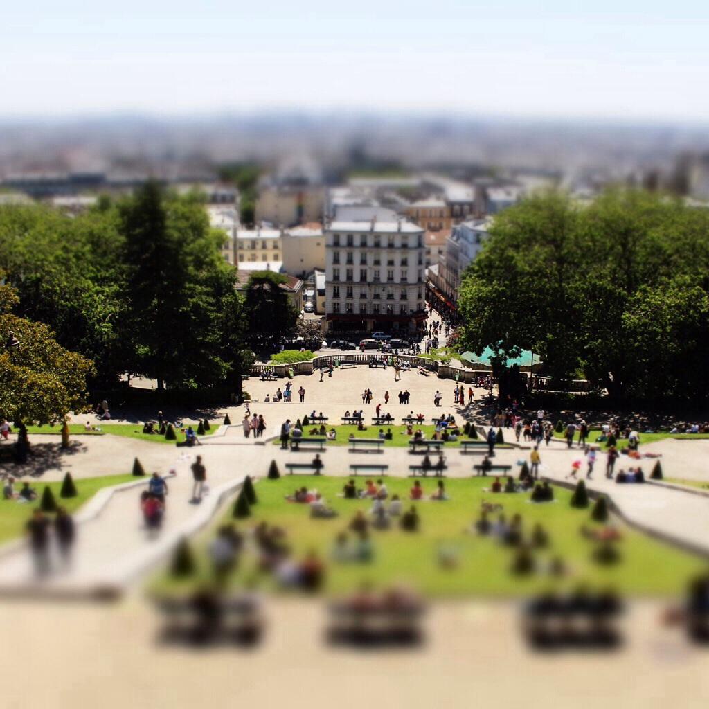 Paris Blick von Sacre Coeur